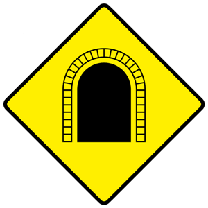 tunnel warning